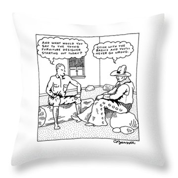 Stick With The Basics And You Will Never Go Wrong Throw Pillow
