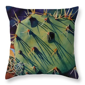 Sticker Shock Throw Pillow by Judy Mercer