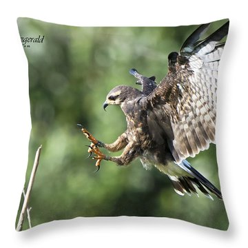 Sticking The Landing Throw Pillow