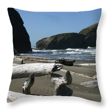 Sticks And Stones Throw Pillow by Marie Neder