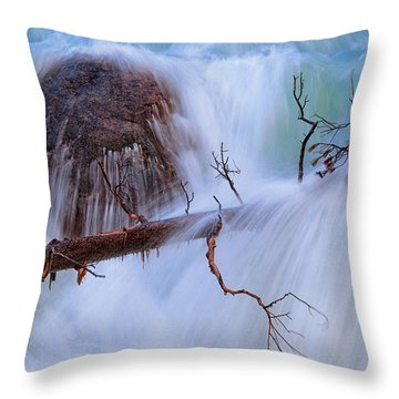 Throw Pillow featuring the photograph Sticks And Stones by Rick Furmanek
