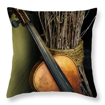 Sticks And Strings Throw Pillow