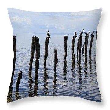 Sticks Out To Sea Throw Pillow