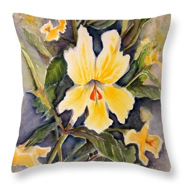 Sticky Monkey Flower Throw Pillow