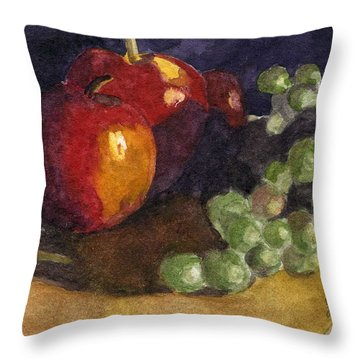 Still Apples Throw Pillow