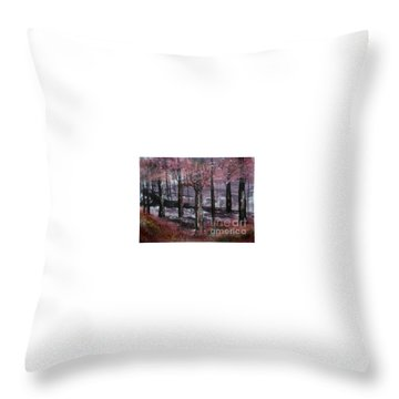 Throw Pillow featuring the painting Still Beauty by Lori  Lovetere