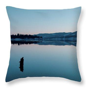 Still Blue Throw Pillow