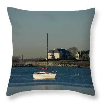 Still Boat Throw Pillow