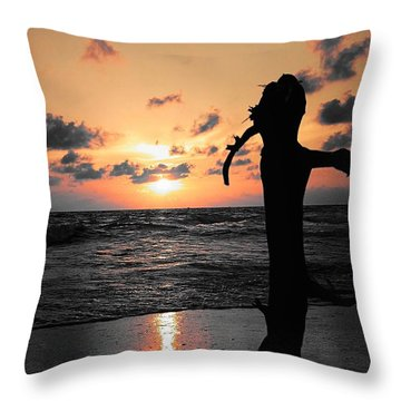Still By Sea Throw Pillow