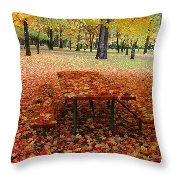 Still Fall Throw Pillow