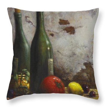 Still Life 3 Throw Pillow by Harvie Brown