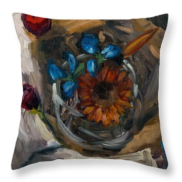 Still Life Abstract Throw Pillow