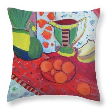 Still Life After Matisse Throw Pillow
