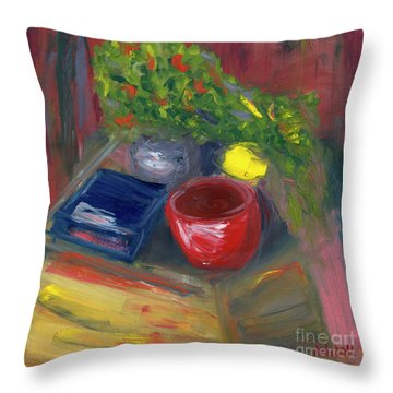 Still Life Throw Pillow