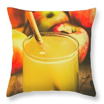 Still Life Apple Cider Beverage Throw Pillow