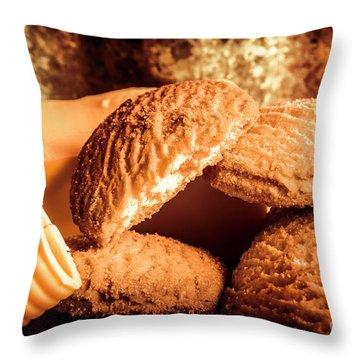 Still Life Bakery Art. Shortbread Cookies Throw Pillow