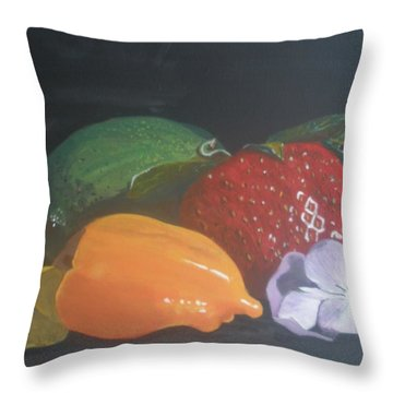 Throw Pillow featuring the painting Still Life by Betty-Anne McDonald