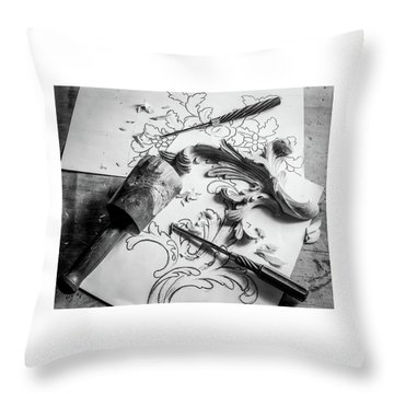 Still Life Carving Still Life Throw Pillow