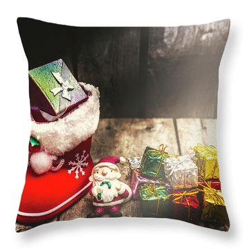 Still Life Christmas Scene Throw Pillow