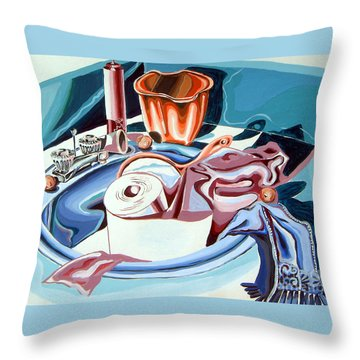 Still Life For Bathroom  Throw Pillow