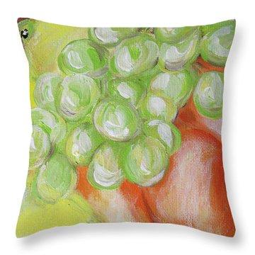 Still Life. Grapes. Fruits.  Throw Pillow