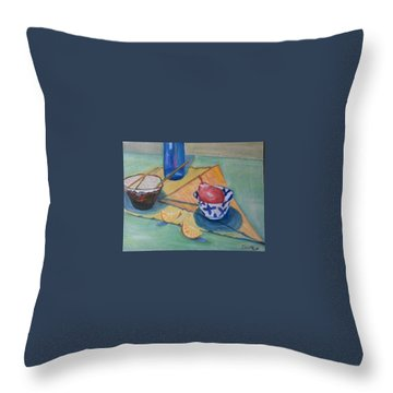 Still Life In Action Throw Pillow