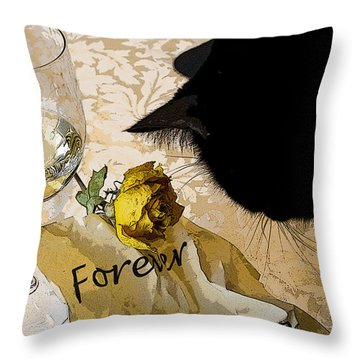 Still Life Interrupted #1 Throw Pillow by Rhonda McDougall
