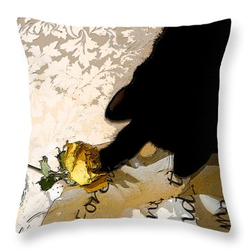 Still Life Interrupted #3 Throw Pillow by Rhonda McDougall