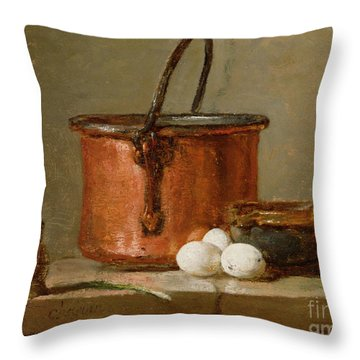 Still Life Throw Pillow by Jean-Baptiste Simeon Chardin