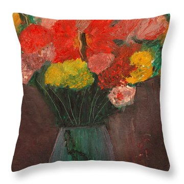 Flowers Still Life Throw Pillow