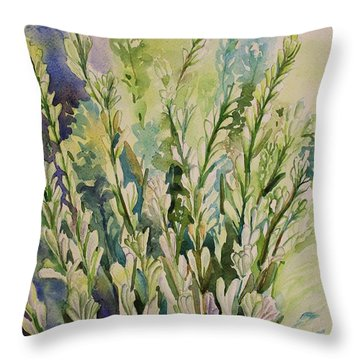 Still Life Of Tuberose Flowers Throw Pillow by Geeta Biswas