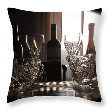 Still Life - The Crystal Elegance Experience Throw Pillow