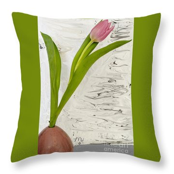 Still Life Tulip Throw Pillow by Marsha Heiken
