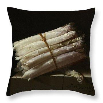 Still Life With Asparagus, 1697 Throw Pillow