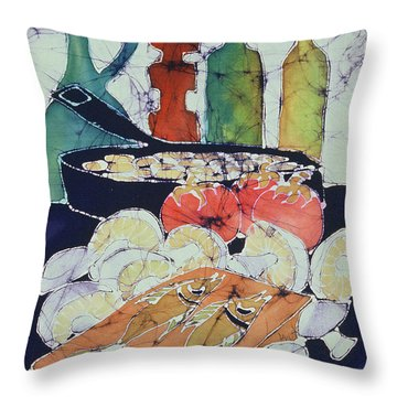 Still Life With Blues Throw Pillow