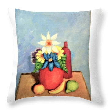 Still Life With Bottle Throw Pillow