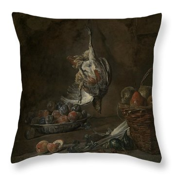 Still Life With Dead Pheasant Throw Pillow by Jean-Baptiste-Simeon Chardin