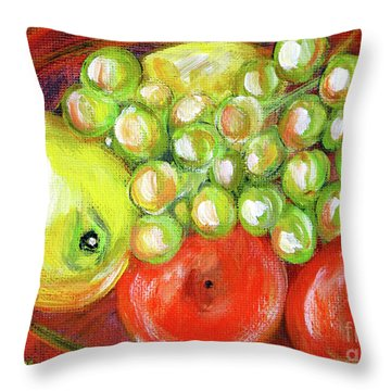 Still Life With Fruit. Painting Throw Pillow