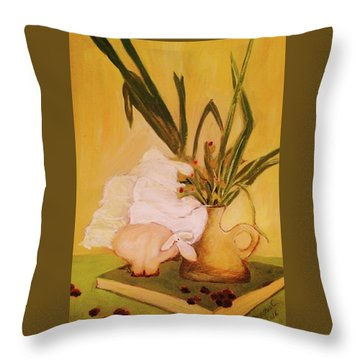 Still Life With Funny Sheep Throw Pillow by Manuela Constantin