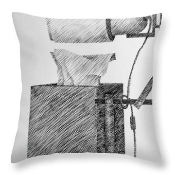 Still Life With Lamp And Tissues Throw Pillow by Michelle Calkins