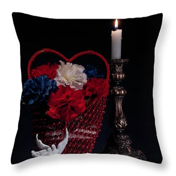 Still Life With Lovebirds Throw Pillow