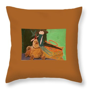 Still Life With Old Toys Throw Pillow by Manuela Constantin