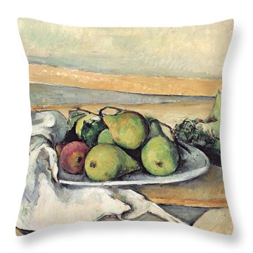 Still Life With Pears Throw Pillow by Paul Cezanne