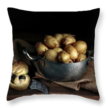 Still Life With Potatoes Throw Pillow