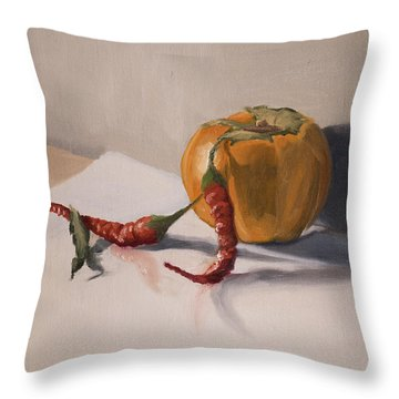 Still Life With Produce Throw Pillow
