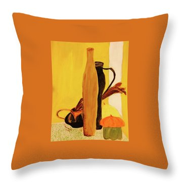 Still Life With Pumpkins  Throw Pillow by Manuela Constantin