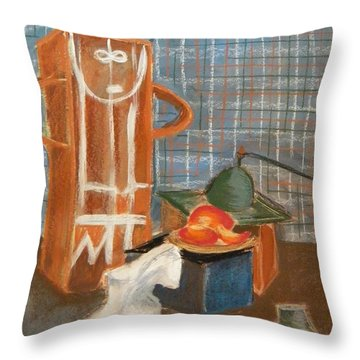 Still Life With Romanian Ceramic Throw Pillow by Manuela Constantin