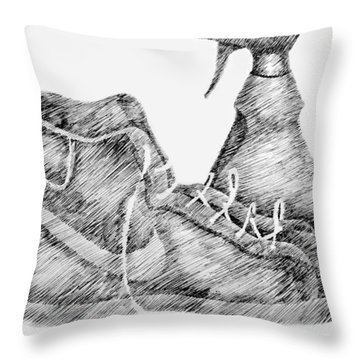 Still Life With Shoe And Spray Bottle Throw Pillow
