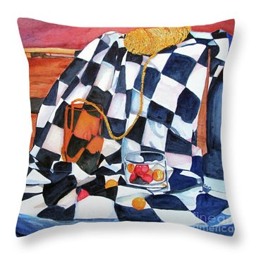Still Life With Squares Throw Pillow