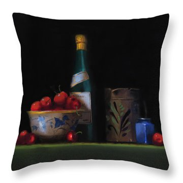 Still Life With The Alsace Jug Throw Pillow by Barry Williamson